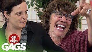 Old Lady Literally Dies of Laughter Prank! - Just For Laughs Gags