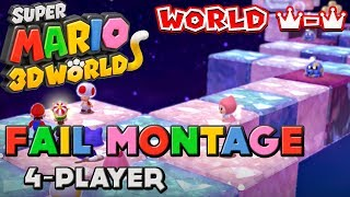 Super Mario 3D World: World Crown Fail Montage (Uncensored)