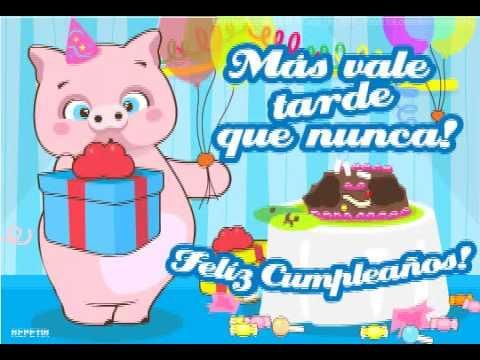 Tarjetas de cumpleaños atrasados gratis - Imagui