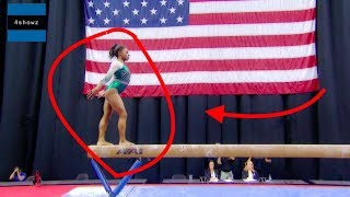 Simone Biles Triple Double Dismount On Floor (Championships 2019)