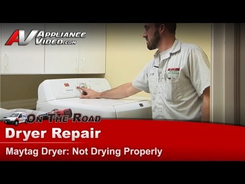 Dryer Repair & Diagnostic - Not Drying -Maytag. Whirlpool. Roper. Kenmore. Sears.MGDB200VQO