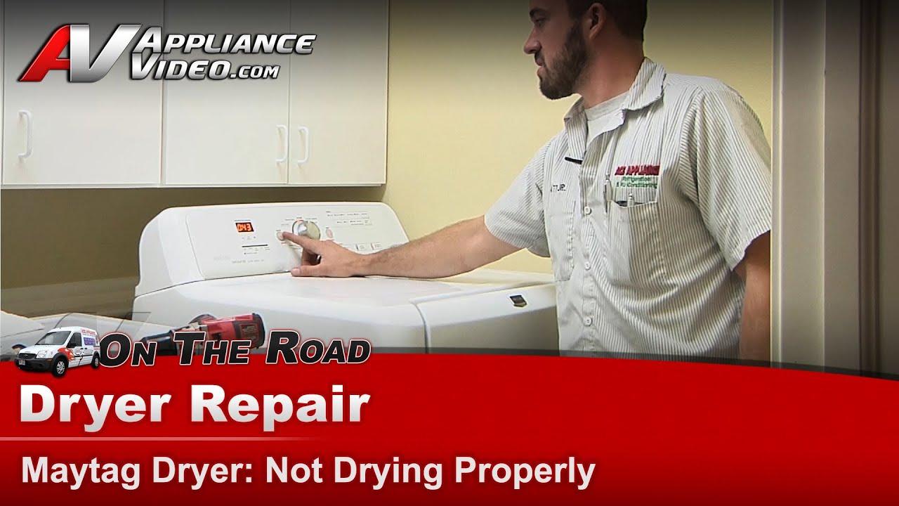 dryer repair  u0026 diagnostic - not drying