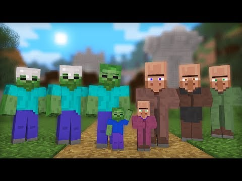 Zombie & Villager Life: Full Animation I - Minecraft Animation