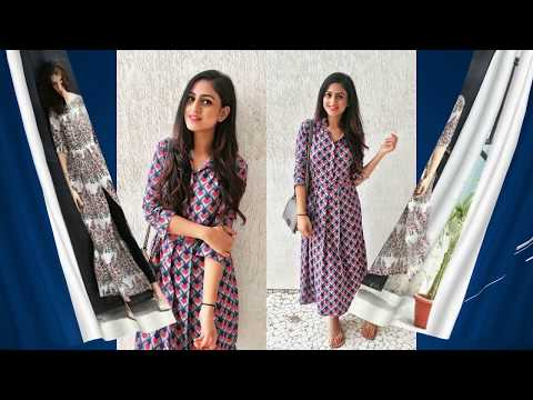 Stylish Floral Printed Kurti Designs