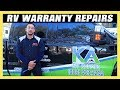 Grand Design RV Tour of Warranty Repair Work: Slide Out Problems - Newbie Mistakes at PDI Inspection
