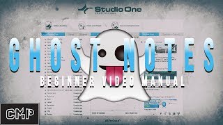 How to Access Ghost Notes In Studio One V4 presonus studio one
