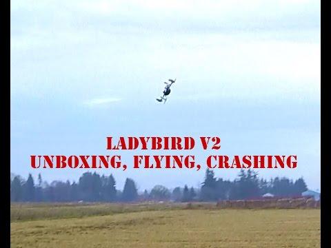 Walkera QR Ladybird V2 Ultra Micro Quadcopter Unboxing and crashing!