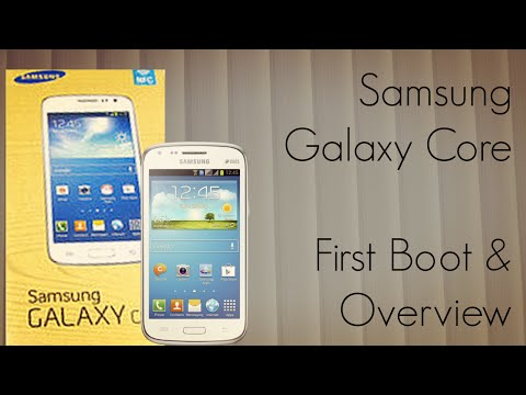 Samsung Galaxy Core First Boot - Overview Pre-Installed Apps && Features