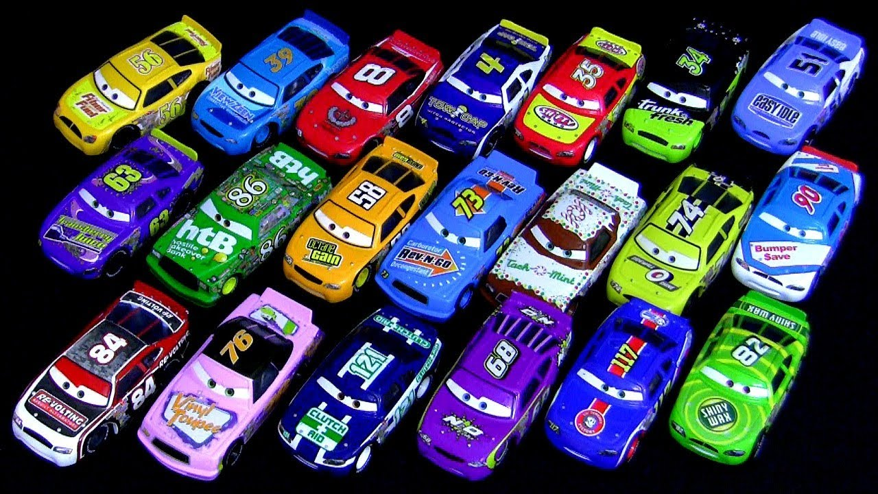 All Cars 1 Race Car Toys : Disney toys cars racers with synthetic rubber tires