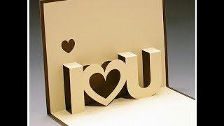 DIY Valentine's Day POP-UP Card (re-uploaded)
