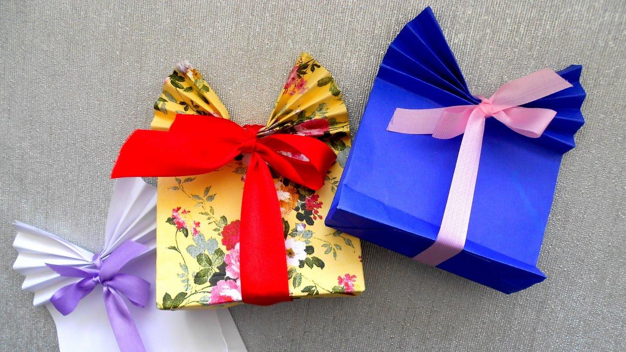 Подарочная упаковка из бумаги видео 175