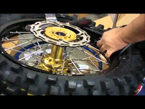 Installing a dirt bike tire onto a new wheel - Part II