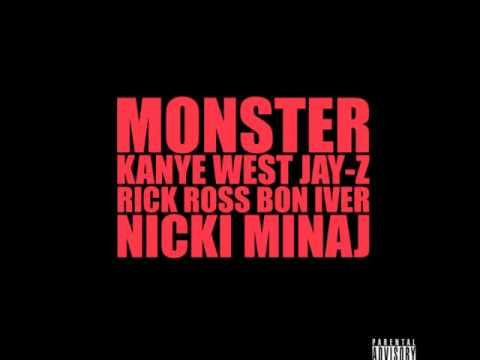 Kanye West Ft Jay-z Nicki Minaj Rick Ross And Bon Iver - Monster Cdq (lyrics) (full) New video