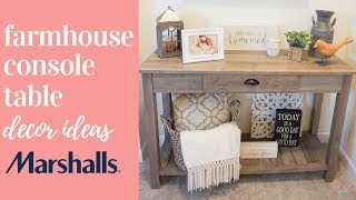 CONSOLE TABLE DECOR | FARMHOUSE DECOR IDEAS