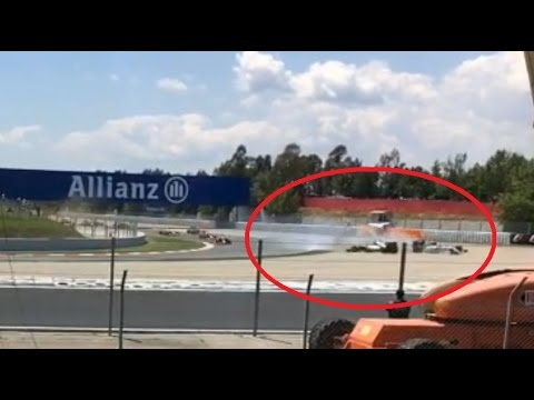 F1 2016 Spain : Warming up lap untill first lap incident from side of the circuit