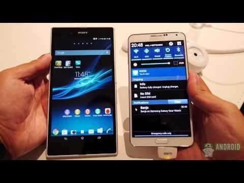 Samsung Galaxy Note 3 vs Sony Xperia Z Ultra: Quick Look