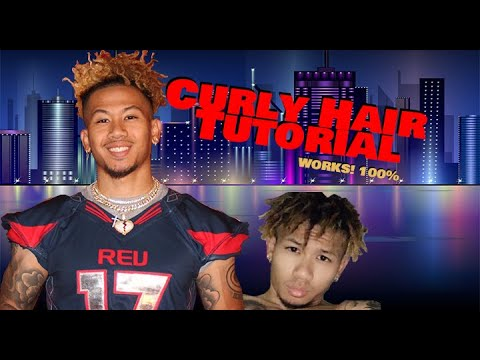 Men's Natural Straight Hair into Nappy Hair Tutorial| No Perm Needed| Odell Beckham Hair