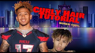 Men's Natural Straight Hair into Nappy Hair Tutorial  No Perm Needed  Odell Beckham Hair