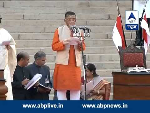 Santosh Gangwar takes oath as a Minister