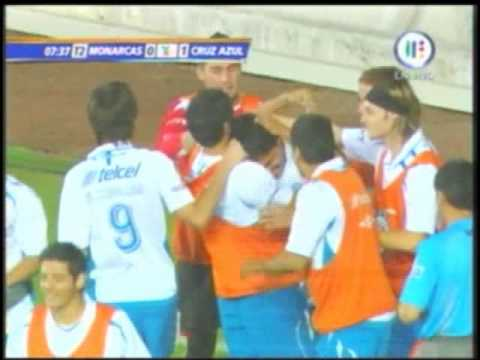 GOL ESCORPION LUIS ANGEL LANDIN CRUZ AZUL VS MORELIA JORNADA 13 CLAUSURA 2009 Video