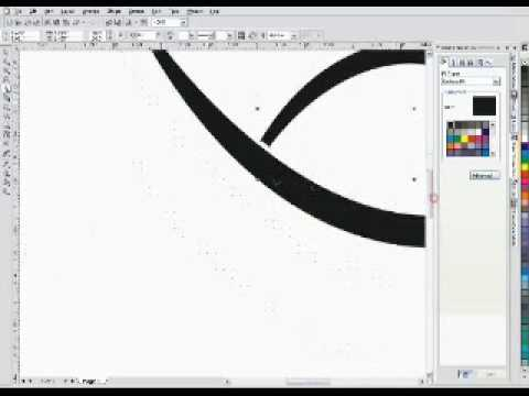 Corel Draw Tutorial - Tribal Drawing Part 1