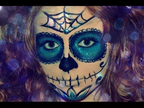 Рисунок на лице на хэллоуин для девушек фото