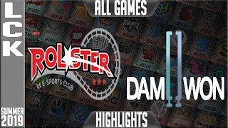 KT vs DWG Highlights ALL GAMES | LCK Summer 2019 Week 2 Day 3 | KT Rolster vs Damwon Gaming