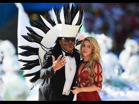 Closing Ceremony Performance Shakira, Carlos Santana FIFA 2014 World Cup Closing Ceremony