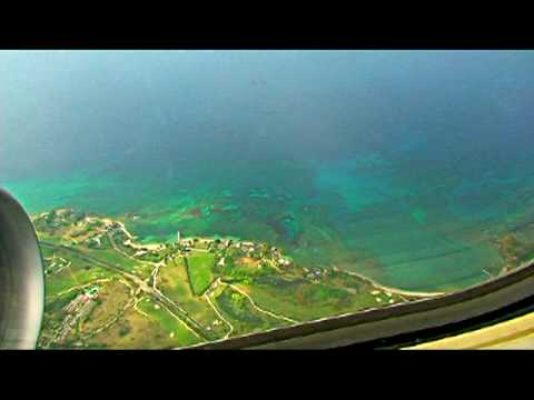 Westjet Landing in Montego Bay Jamaica - beautiful!!