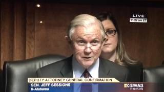 Senator Jeff Sessions questions Sally Yates during her confirmation hearing