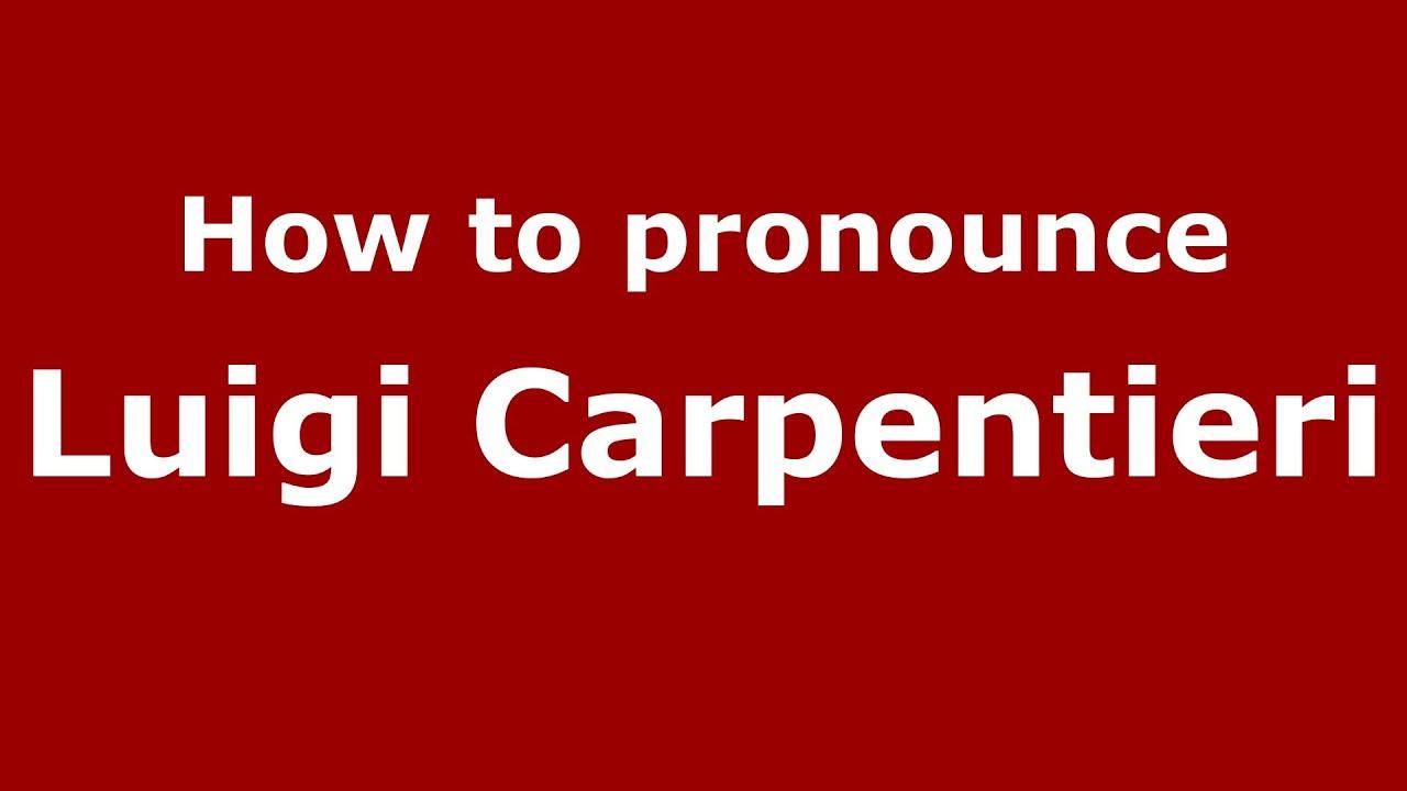 Luigi Carpentieri Net Worth