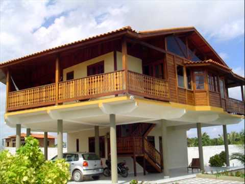 Casa premoldada de madeira