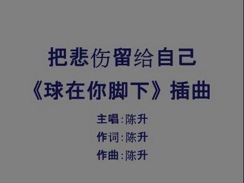 把悲伤留给自己 Ba Bei Shang Liu Gei Zi Ji - 陈升 (lyrics)
