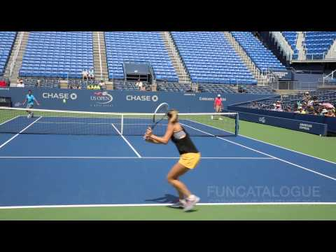Maria Sharapova Practice Drills US Open 2014