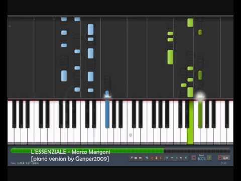"""L'ESSENZIALE – Marco Mengoni (Sanremo 2013) [piano tutorial cover by """"genper2009""""]"""