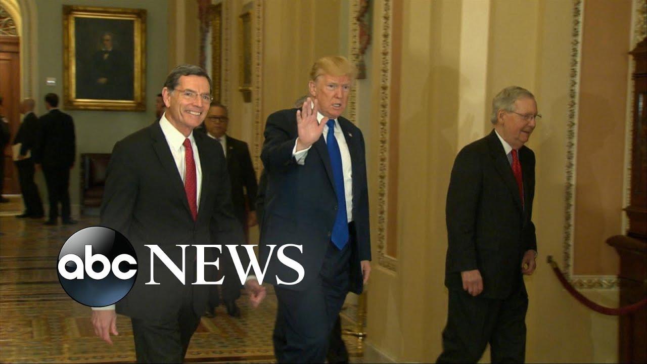 Trump and senate Republicans predict tax bill will pass