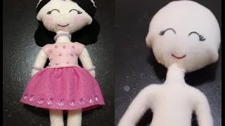 How to make Felt Doll part 1