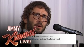Josh Groban Sings Donald Trump Tweets