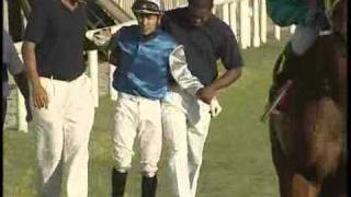 The dangers of working as a jockey(Mauritius-Champ De Mars)