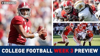 COLLEGE FOOTBALL WEEK 3 PREVIEW | ODDS, PICKS, & ADVICE | CBS Sports HQ