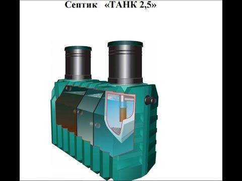 Как установить септик «Танк-2,5» своими руками – пошаговое описание монтажа фото