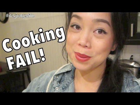 Epic Cooking FAIL! - November 26, 2014 - itsJudyLife Daily Vlog