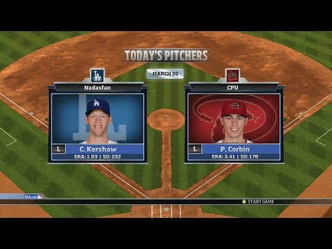 RBI Baseball 14: Season Mode - Los Angeles Dodgers vs Arizona Diamondbacks