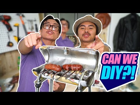 DIY MINI BBQ GRILL?!   CAN WE DIY?!