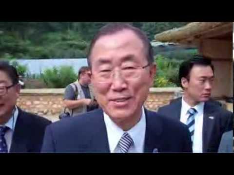 GLOBALMAXIM: U.N. SECRETARY-GENERAL VISITS HIS BIRTHPLACE in REPUBLIC of KOREA
