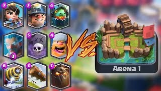 All Legendaries Trolling Arena 1 Clash Royale | Trolls & Funny Moments