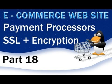 18. E - Commerce Website Tutorial - Payment Processors, SSL, Encrypted Code