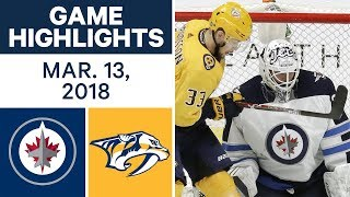 NHL Game Highlights | Jets vs. Predators - Mar. 13, 2018