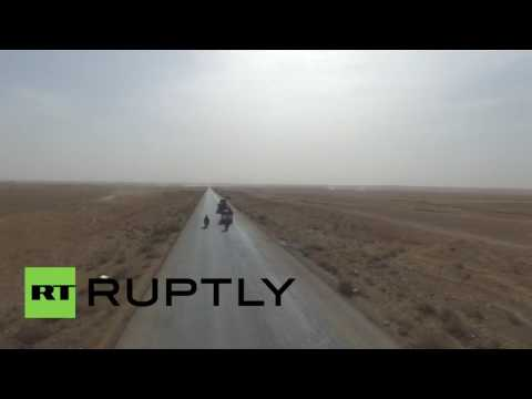 Syria: Drone shows Syrian army advancing on IS-held Raqqa