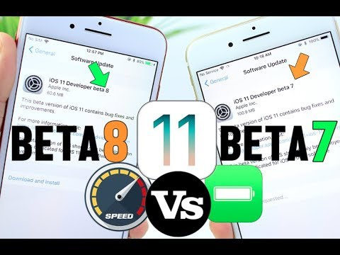 iOS 11 Beta 8 Vs Beta 7 Battery & Performance TEST